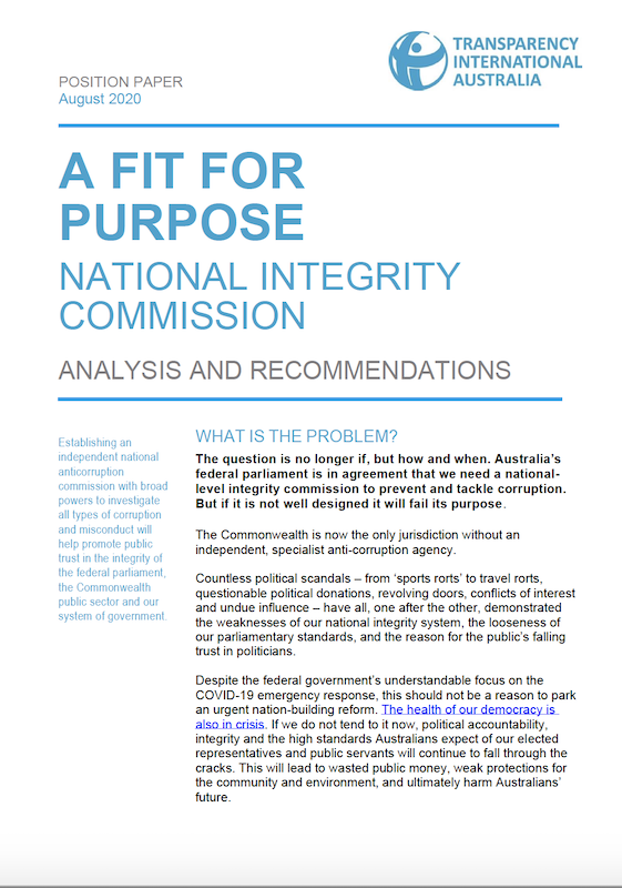 national integrity commission