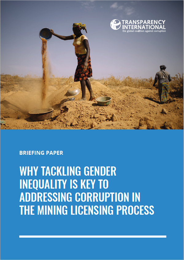 gender mining corruption