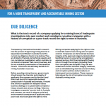 Mining due diligence
